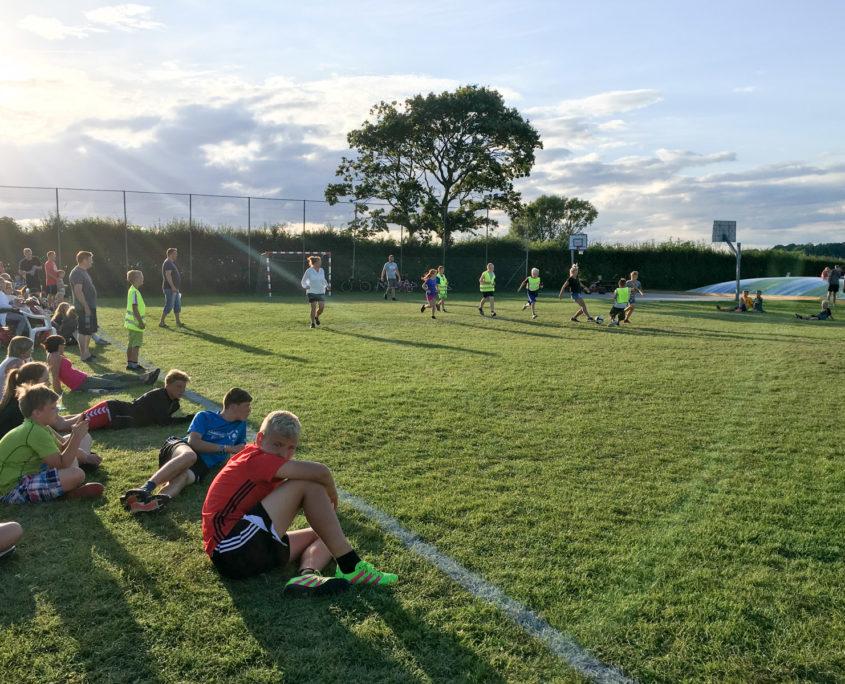 Boldbanen på Sandager Næs Camping
