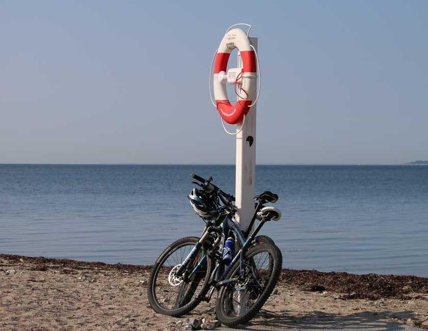 Mountainbikes på stranden